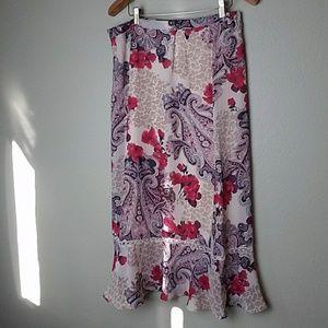 Floral Blouse/Skirt Set